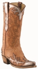 12� Ladies Lucchese Classics Pearwood Goat w/ Bronze Acetone Goat Wingtip/Foxing with Santa Fe Design L4738
