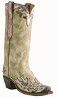 12� Ladies Lucchese Classics Sage Drupe Goat w/ Bronze Acetone Goat Wingtip/Foxing with Santa Fe Design L4739