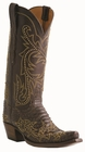"13"" Ladies Lucchese Classics Chocolate Belly Hand Python with Lann and Studs Stitch Design Design L4159"