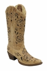 *NEW* Corral Women's Antique Saddle Brushed Laser Boot - A1970