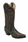*NEW* Corral Women's Black / Bronze Studs And Whip Stitch Boot - R1217