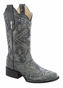 *NEW* Corral Women's Black / Silver Glitter Boot - A3119