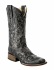 *NEW* Corral Women's Black Snake Inlay Boot - A2402
