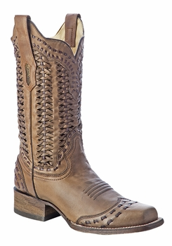 *NEW* Corral Women's Sand Braided Shaft Boot - A3133