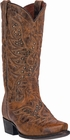 "*NEW* Dan Post Mens ""Flat Head"" Waxy Leather Tan Western Boots DP2204"