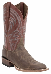 "*NEW* Lucchese Men's ""Alan"" Tan Calf Horseman Boot M2660"