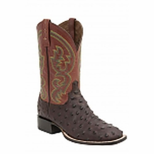 """*NEW* Lucchese Men's """"Josiah"""" Sienna Full Quill ostrich Leather Horseman Boot M2696"""