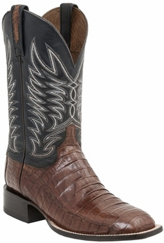 "*NEW* Lucchese Men's ""Logan"" Sienna Ultra Belly Caiman Tail Leather Horseman Boot M2664"