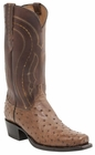 "*NEW* Lucchese Men's ""Montana"" Full Quill Ostrich Tan Burnished Leather Boot M1606"