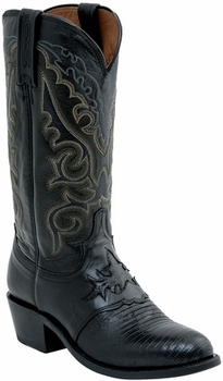 """*NEW* Lucchese Men's """"Silas"""" Black Lizard Leather Boot M2900"""
