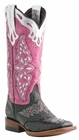 Lucchese Since 1883 Ladies Black Ostrich Sweetwater Horseman Cowgirl Boots M5800