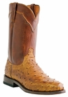 Lucchese Since 1883 Mens Tan Burnished Full Quill Ostrich Cowboy Boots M1633