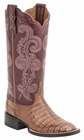 "Women's Lucchese ""Annalyn"" Tan Ultra Belly Caiman & Calf Boot M4941"