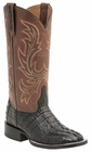 "Women's Lucchese ""Lexie"" Black Hornback Caiman Tail & Calf Leather Boots M4947"