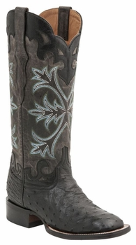 "Women's Lucchese ""Rowena"" Black Full Quill Ostrich & Calf Leather Boots M4938"