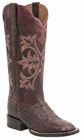 """Women's Lucchese """"Rowena"""" Sienna Full Quill Ostrich Leather Boots M4940"""