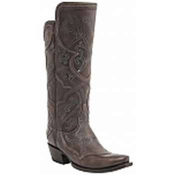 "*NEW* Lucchese Women's ""Beryl"" Brown Cowhide Leather Boot M4930"