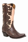 """*NEW* Lucchese Women's """"Eleanor"""" Chocolate Studded Leather Boot M4963"""