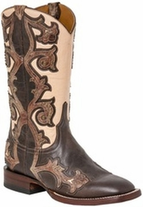 "*NEW* Lucchese Women's ""Fiona"" Walnut Studded Horseman Boot M4960"