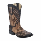 *NEW* Men's Corral Antique Saddle - Black Overlay Western Boots G1272