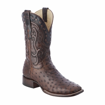 *NEW* Men's Corral Antique Saddle Full Quill Ostrich Western Boots A3095