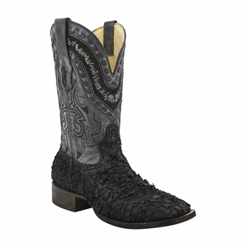 *NEW* Men's Corral Black Gnarly Fish Western Boots A3085