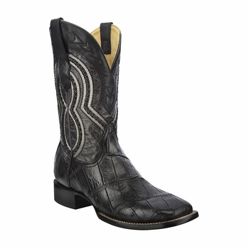 *NEW* Men's Corral Black/Grey Alligator Exotic Western Boots A3084