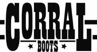 *NEW* Men's Corral Black Laser and Whip Stitch Snip Toe Western Boots C3062