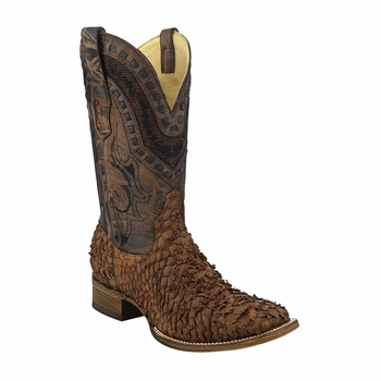 *NEW* Men's Corral Brown Gnarly Fish Western Boots A3086