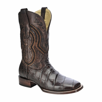 *NEW* Men's Corral Chocolate Alligator Exotic Western Boots A3143