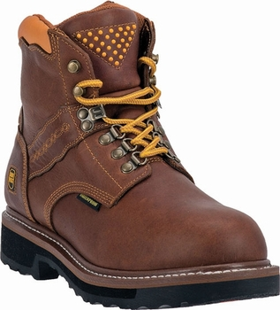 "*NEW* Men's Dan Post ""Gripper Zipper"" Brown Waterproof Leather Work Boots DP66404"