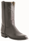 Men�s Lucchese Classics Black Tanino Calf Roper with Roman Crown and Torero Pullstrap L3568