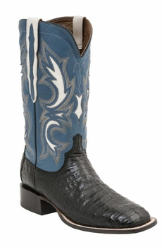 Mens Lucchese Since 1883 Caiman Belly Black Boot - Shiloh M2680