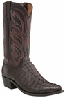 "Men's Lucchese ""Landon"" Barrel Brown Hornback Caiman Tail Boot - Landon M2689/M2692"