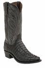 "Men's Lucchese ""Landon"" Black Hornback Caiman Tail Boot - Landon M2687/M2690"