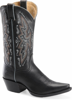 "Sonora® By Double H Womens ""Desert Brilliance"" 11"" Soft Black Full Grain Leather Boots SN1003"