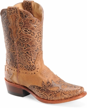 "Sonora® By Double H Womens ""Jessi"" 9"" Rust Full Grain Leather Boots SN1015"