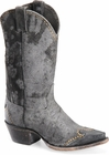 "Sonora® By Double H Womens ""Riley"" 12"" Black Rough-Out Leather Boots  SN1045"