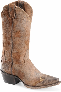 """Sonora® By Double H Womens """"Riley"""" 12"""" Brown Rough-Out Leather Boots SN1043"""