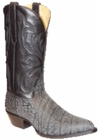 "Star Boots for Men 13"" Black Sueded Buffalo Leather Cowboy Boots M7006"