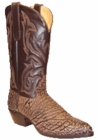 "Star Boots for Men 13"" Brown Sueded Buffalo Leather Cowboy Boots M7007"