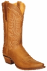 "Star Boots for Men 13"" Tan Crazy Horse Leather Cowboy Boots M7001"