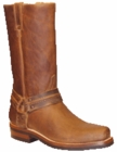 "Star Boots for Men 13"" Tan Crazy Horse Leather Harness Boots M8502"