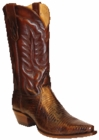 Star Boots for Men Antique Tan Lizard Leather Boots M9203