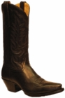 Star Boots for Women Black Deer Tan Leather Cowboy Boots W7000