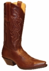 Star Boots for Women Brown Buffalo Calf Leather Cowboy Boots W7019