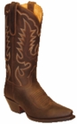 Star Boots for Women Brown Crazy Horse Leather Cowboy Boots W7010
