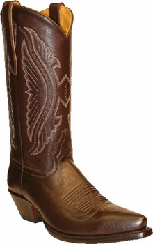 Star Boots for Women Brown Oily Nappa Leather Cowboy Boots W7003