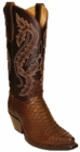 Star Boots for Women Dark Brown Back Cut Python Snake Boots W9222