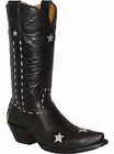 Star Boots For Women Goat Leather Wingtip With Stars W7127B